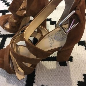 Vince Camuto Shoes - Vince Camuto 'Catyna' brown suede platform heels